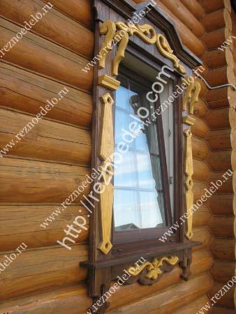 декоративные наличники на окна от мастерской Резное Дело