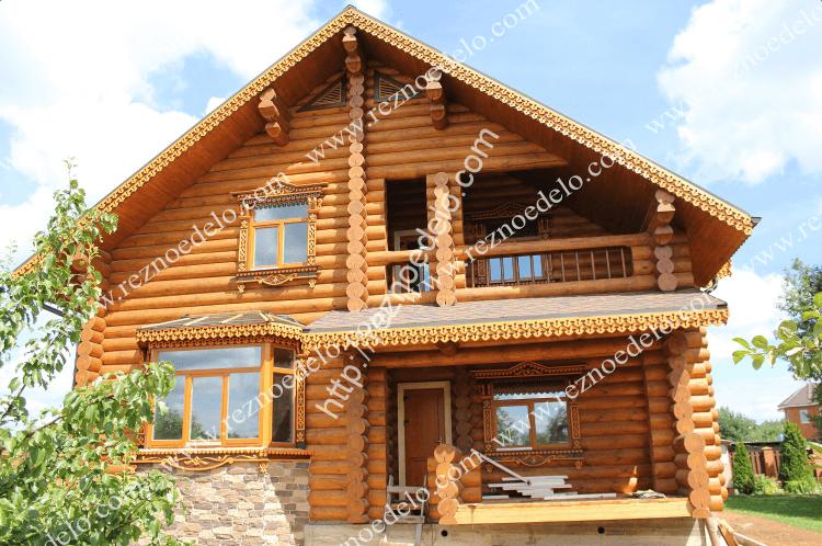 установка деревянных наличников на дом