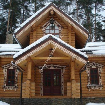 Оформление наличниками частного дома в КП Истринское