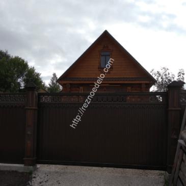 Проект забор «Статный» — резной декор
